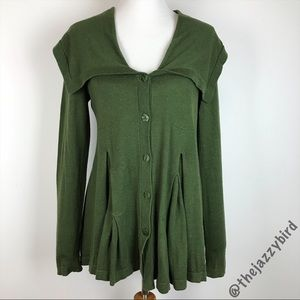 Anthropologie Rosie Neira Forest Green Cardigan